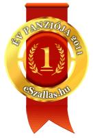 Az év Panziója 1. hely az év szálláshelye szavazáson