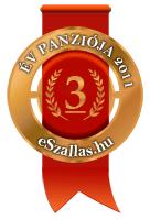 Az év Panziója 3. hely az év szálláshelye szavazáson